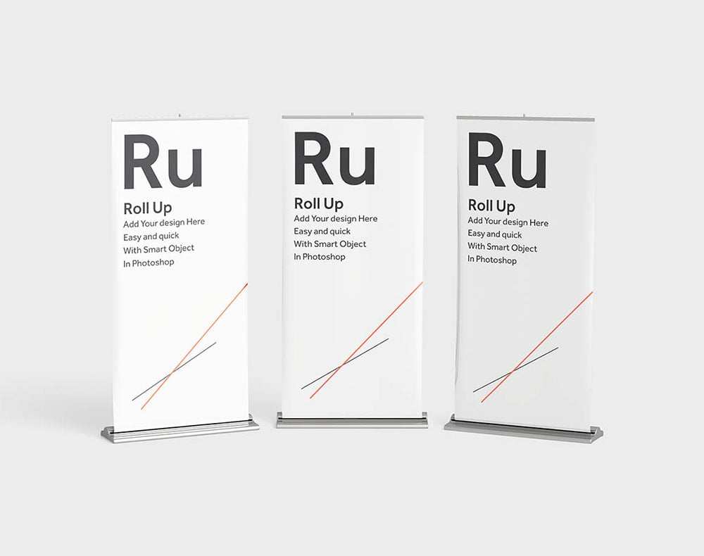 Free Roll-Up Banners Mockup