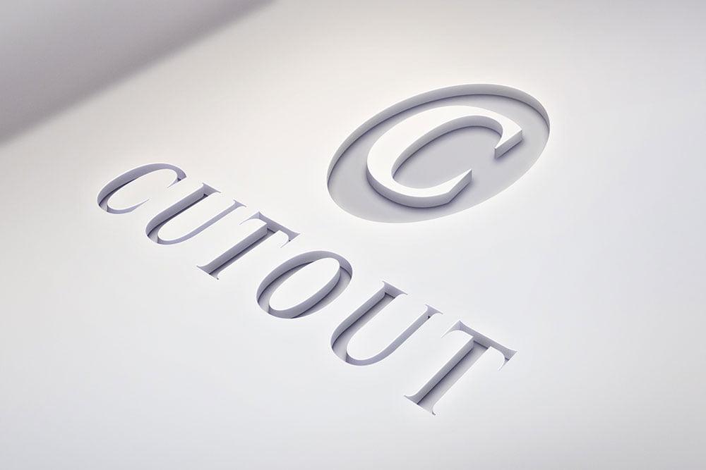 Free Cutout Logo Mockup
