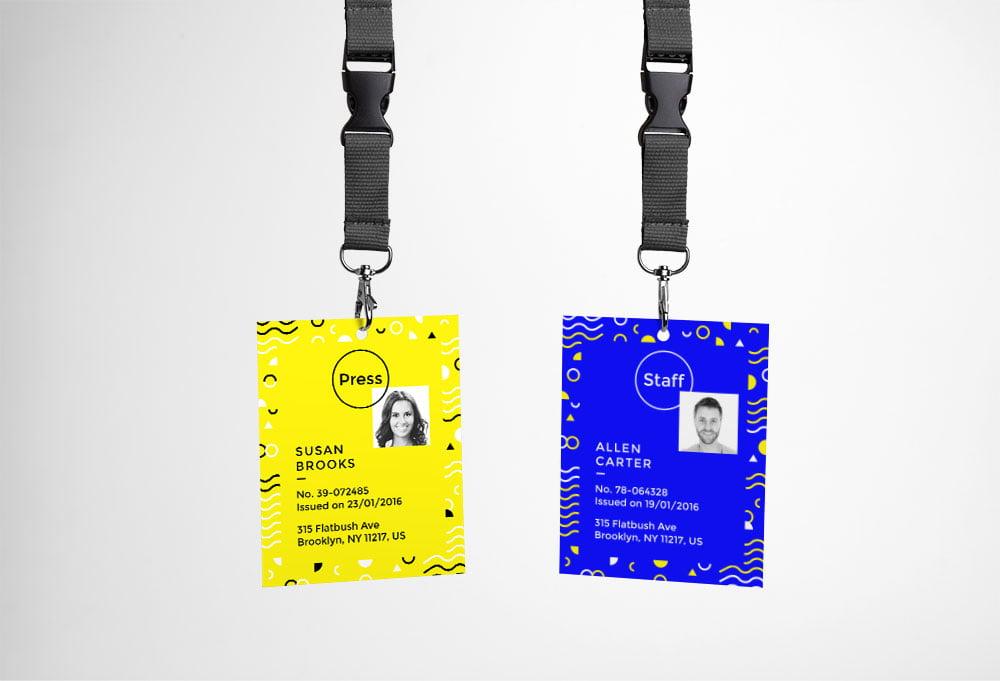 Free ID Card Mock-up