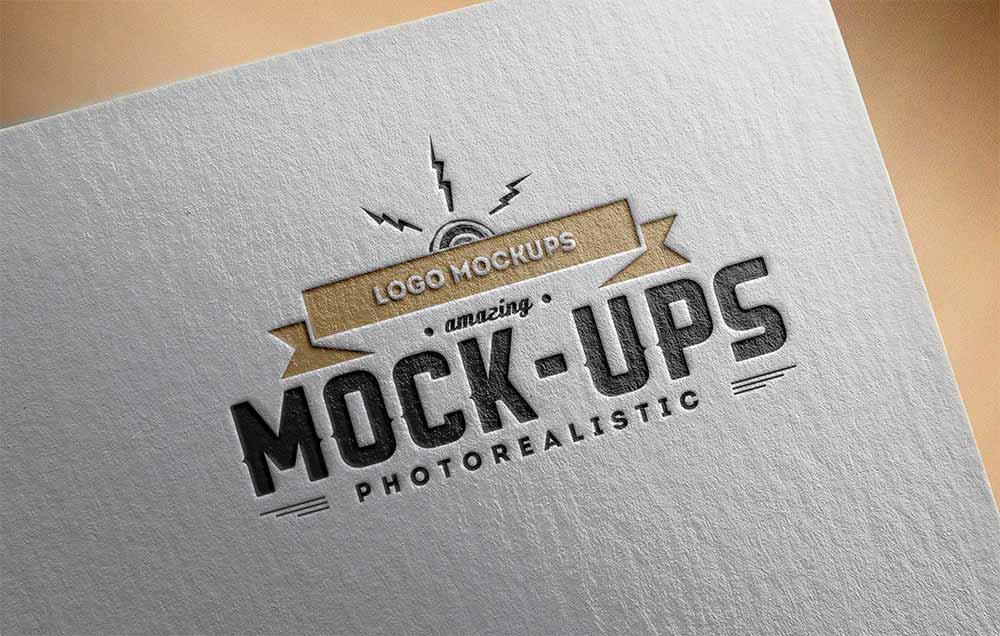 Free Paper Logo Mockup