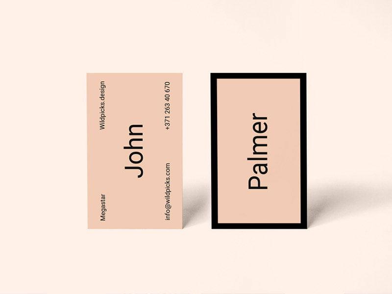 Free Palmer Business Card Mockup