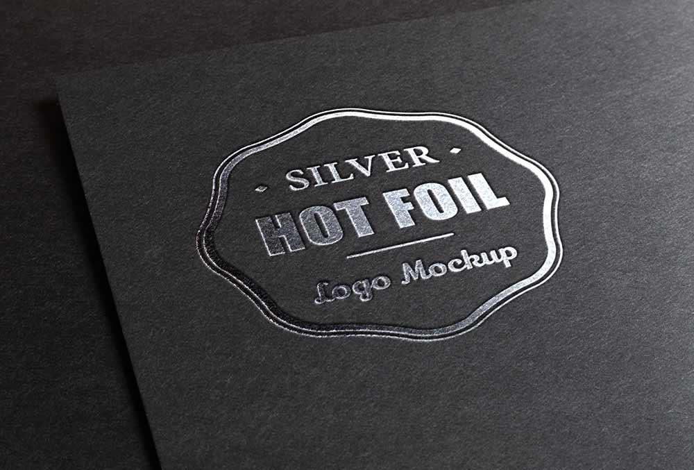 Free Silver Stamping Logo Mockup