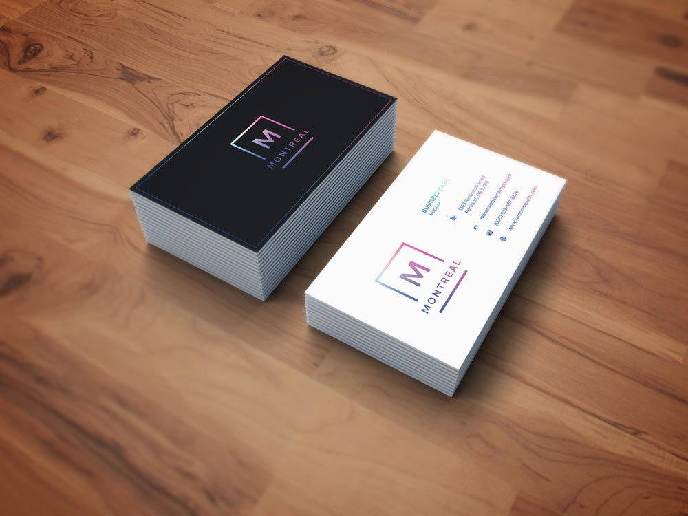 Free Photorealistic Business Card Mockup