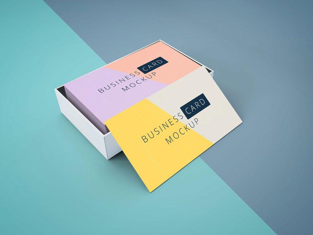 Free Cardboard Business Card Mockup