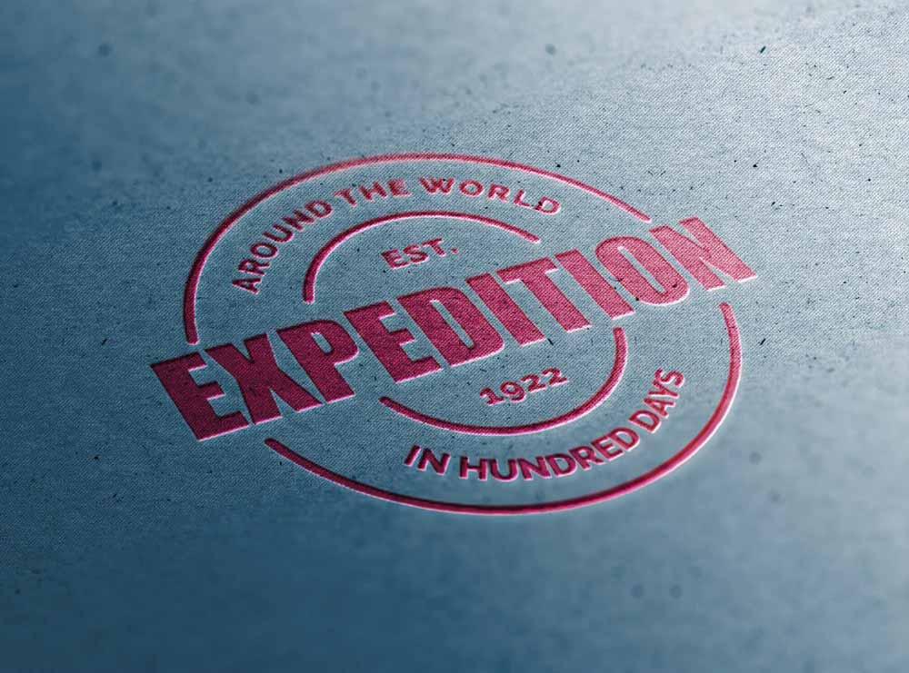 Free Close-up Logo Mockup