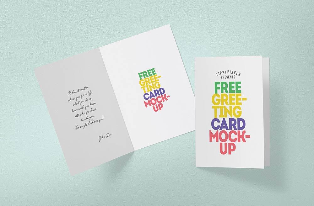 Free Greeting Card Mock-up