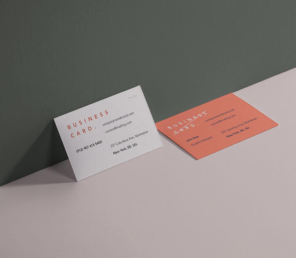 Free Branding Business Card Mockup