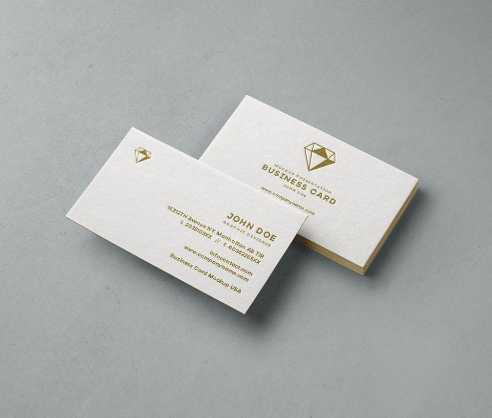 Free Psd Business Card Mock Up Mockuptree