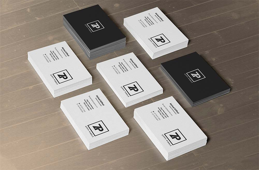 Free Stacks Business Card Mockup