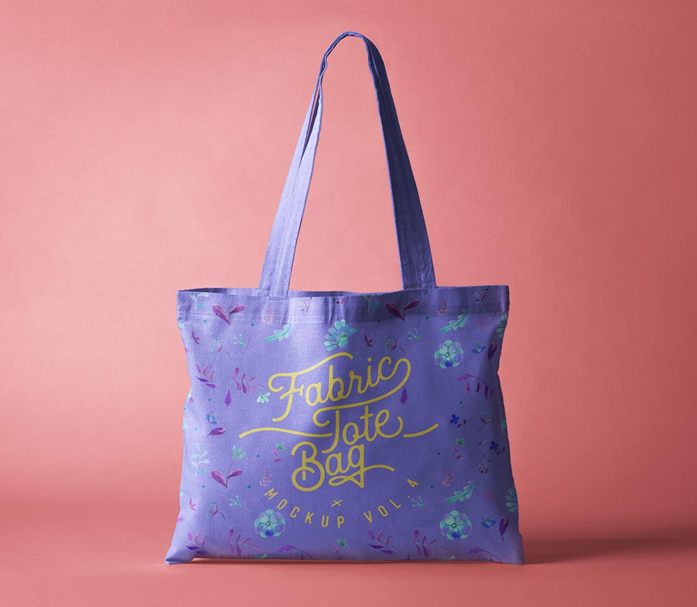 Free Fabric Tote Bag Mockup