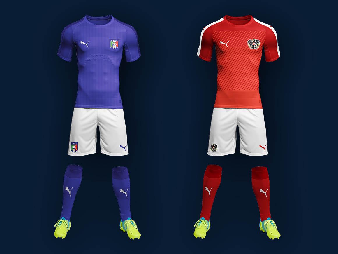 Free Soccer Kit Mockup
