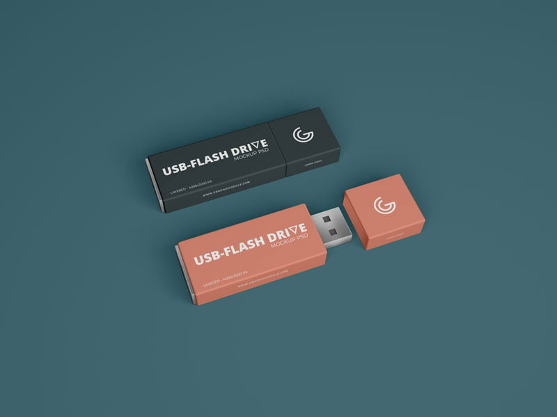 Free USB Flash Drive Mockup