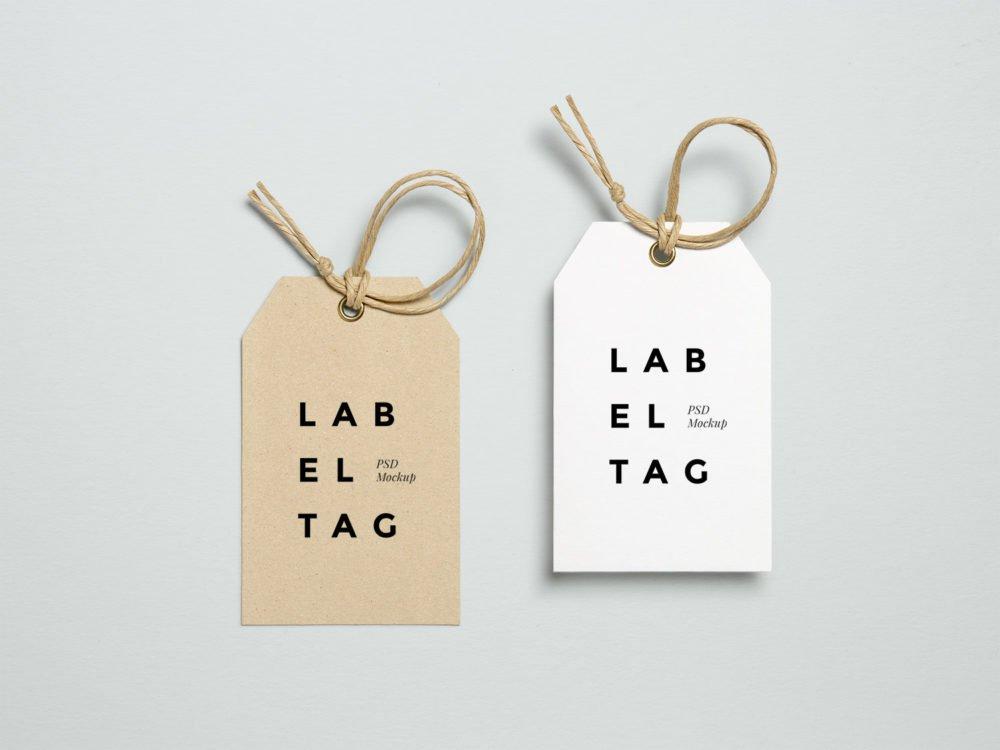 Free Label Tag Mockups