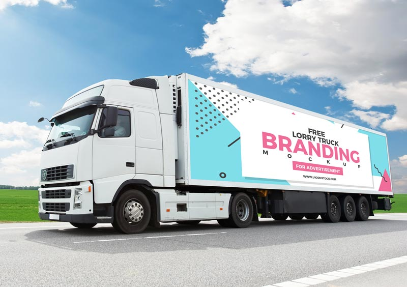 Free Truck Branding Mockup