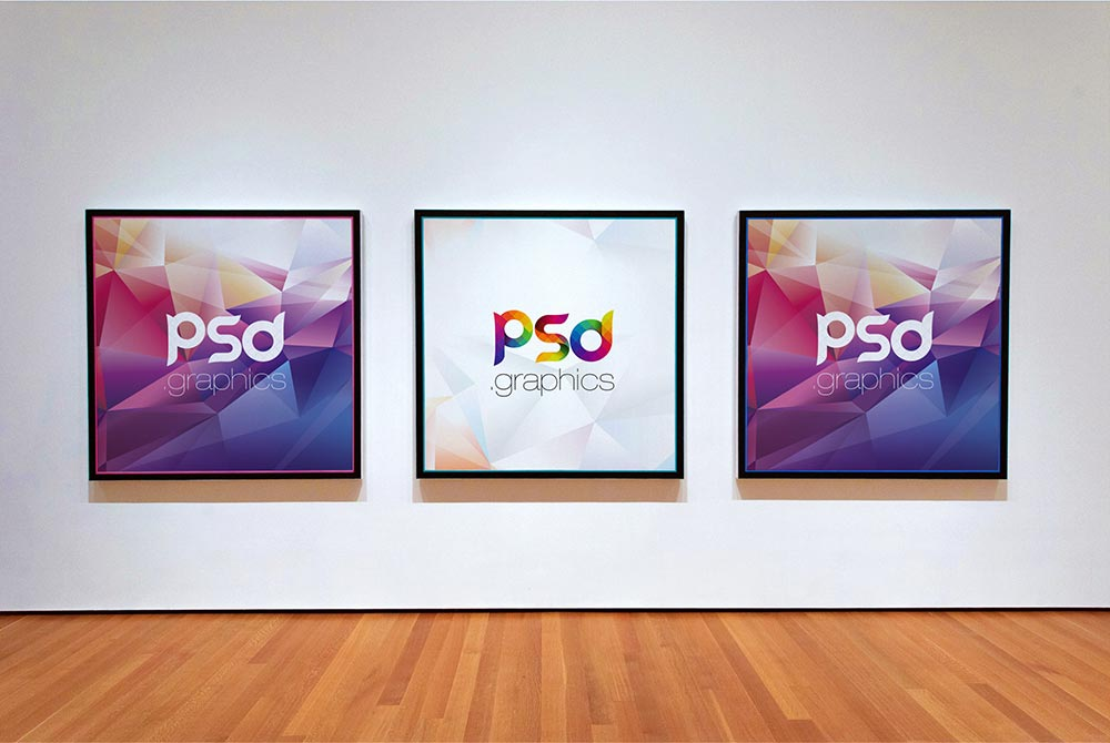 Free Photo Gallery Frame Mockup