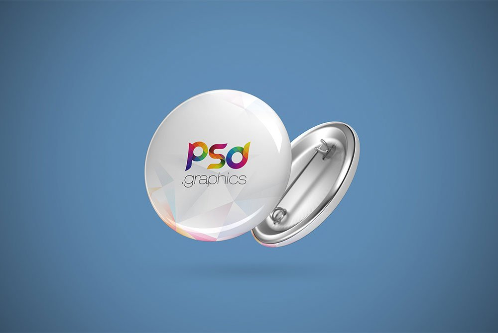 Free Pin Button Badge Mockup