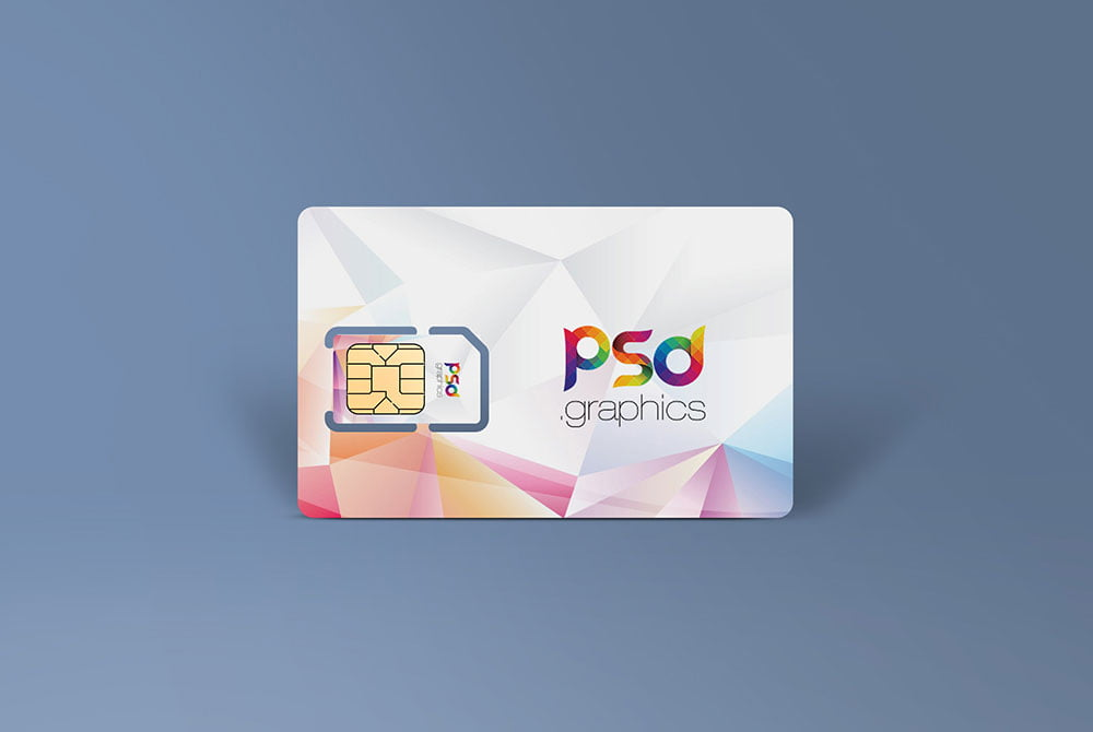 Free Sim Card Mockup
