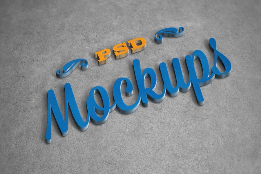 Free 3D Logo Mockups