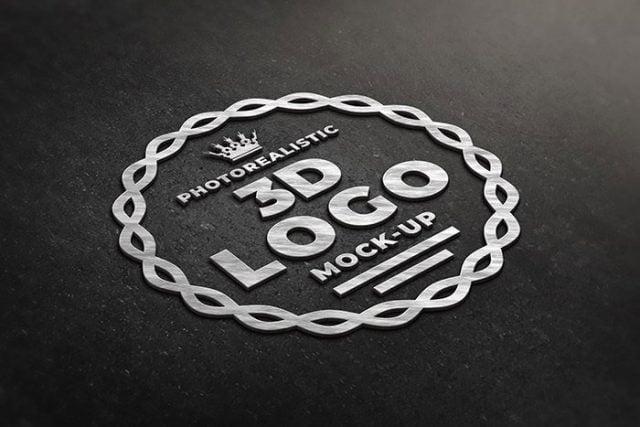 3d wall logo mockup psd file free download