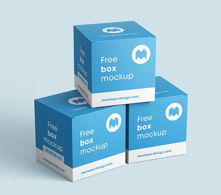 Free Realistic Box Mockup