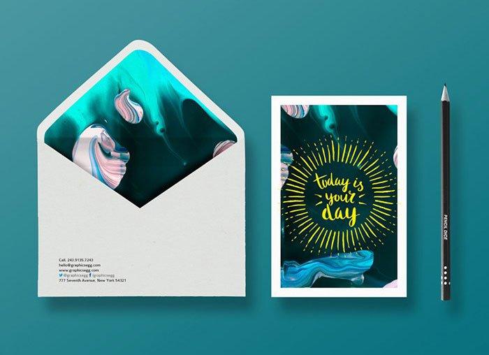 Free Envelope Branding Mockup