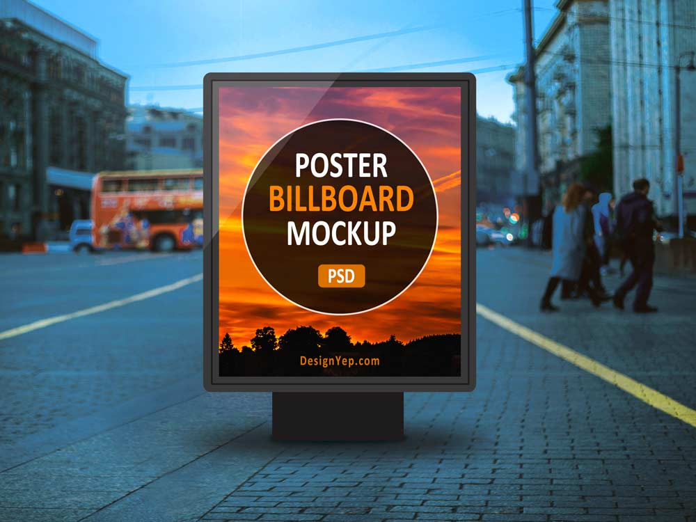 Free Outdoor Poster Billboard Mockup