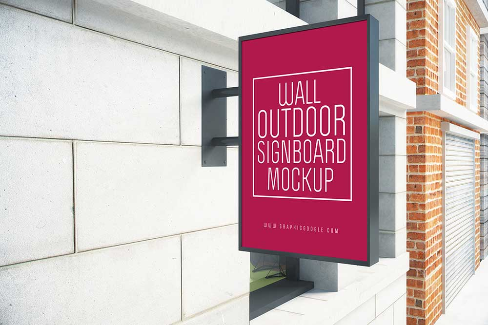 Free Outdoor Signboard Mockup
