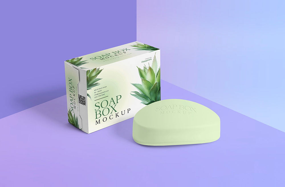Free Box Soap Mockup