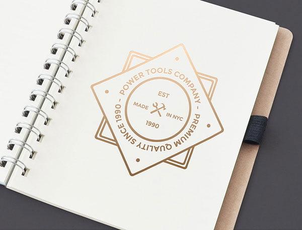 Free Golden Logo Mockup