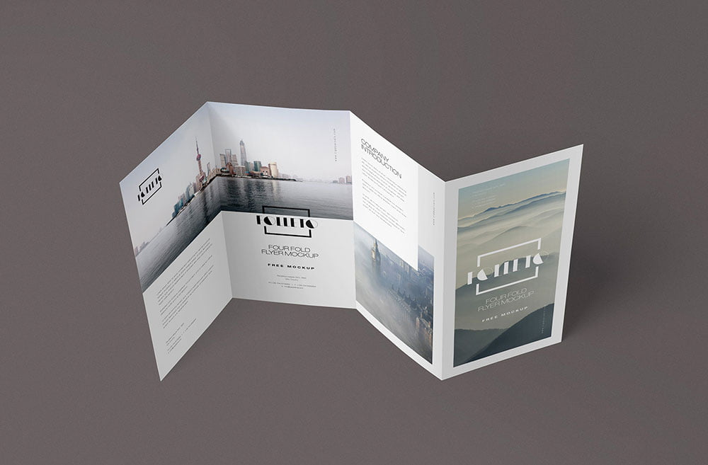 Free Folded Brochure Mockup