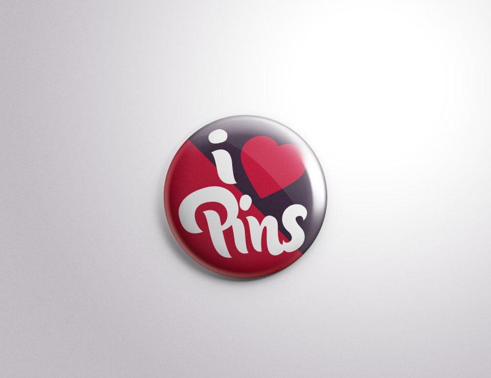 Free Button Pin Mockup