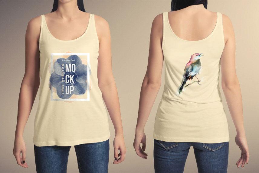 Free Tank Top T-Shirt Mockup