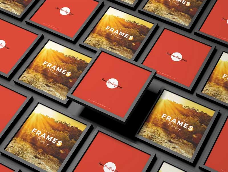 Free Branding Frames Mockup