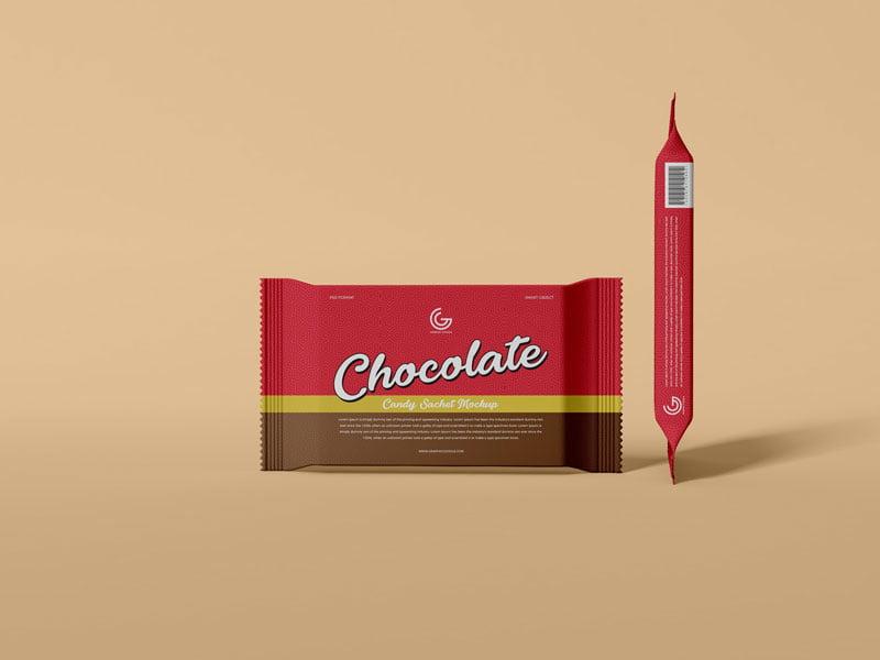 Free Chocolate Candy Mockup