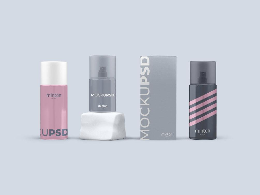 Free Spray Cosmetics Mockup