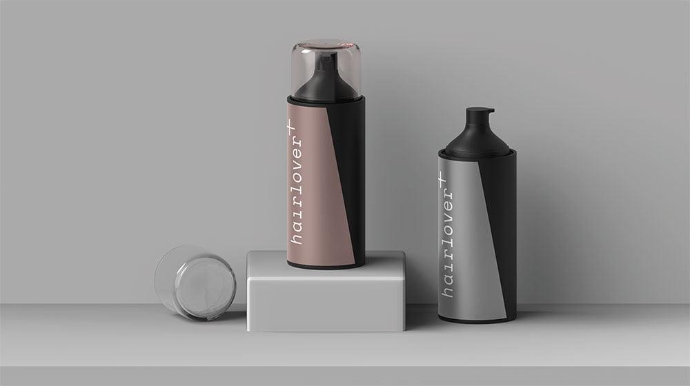Free Hairlover Spray Bottle Mockup