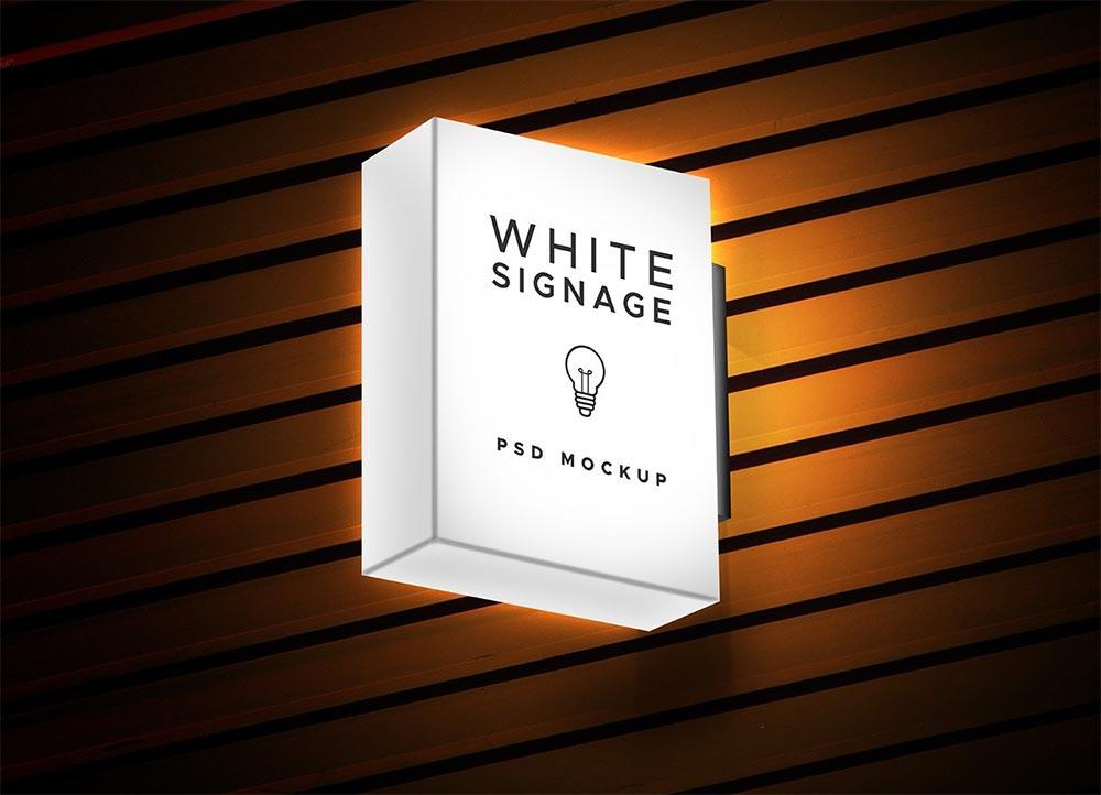 Free Light Box Signage Mockup