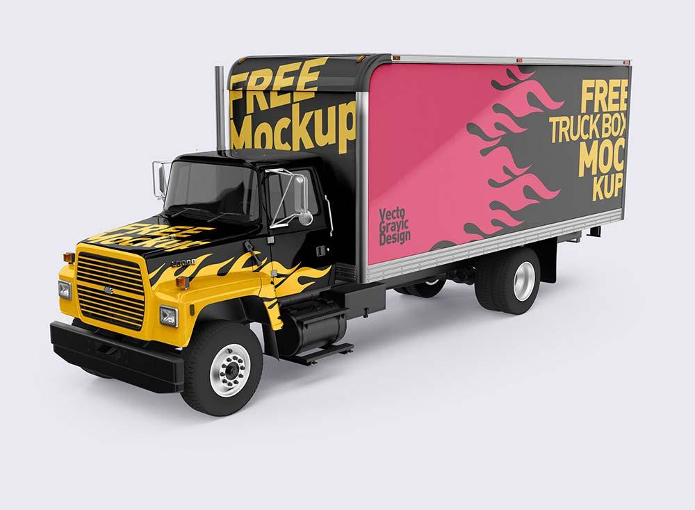 Free Ford Box Truck Mockups