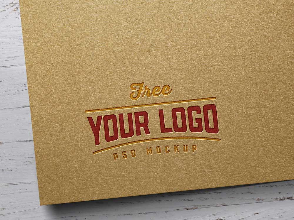 Free Kraft Paper Logo Mockup