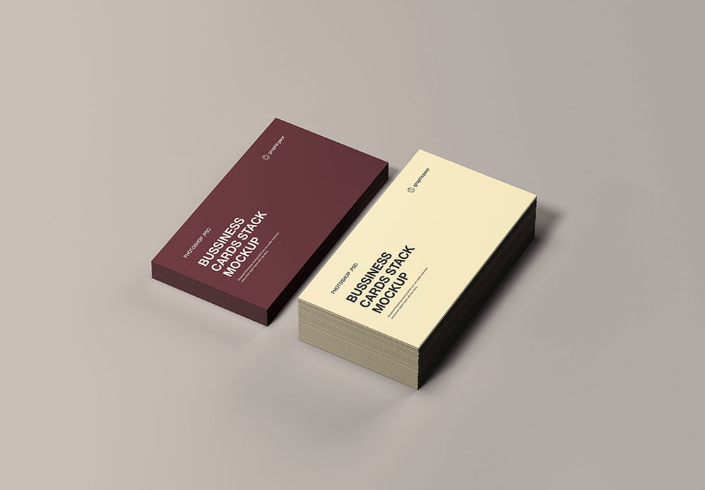 Free Stack Business Cards Mockup