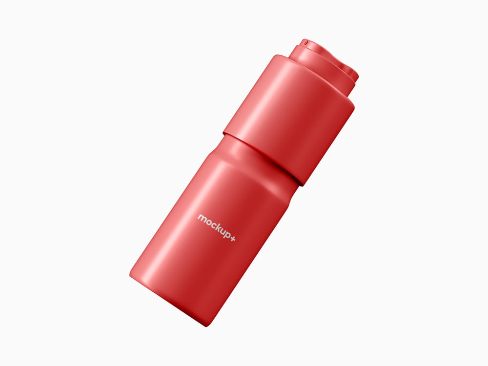 Free Deodorant Spray Bottle Mockup