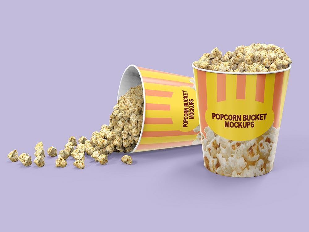 Free Popcorn Bucket Mockup