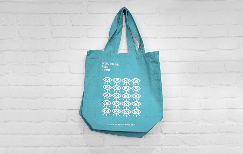 Free PSD Canvas Bag Mockup