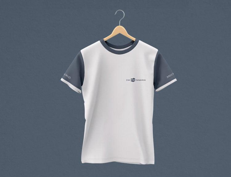 Free PSD Hanging T-shirt Mockup