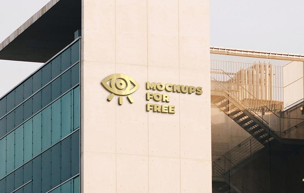 Free Building Logo Mockup