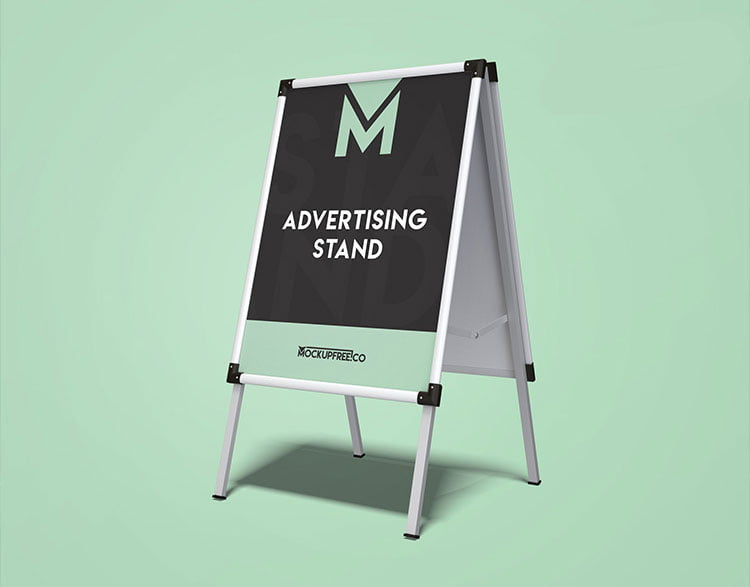 Free Advertising Stand Mockup