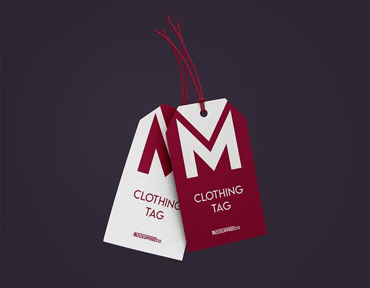 Free Clothing Tag Mockups
