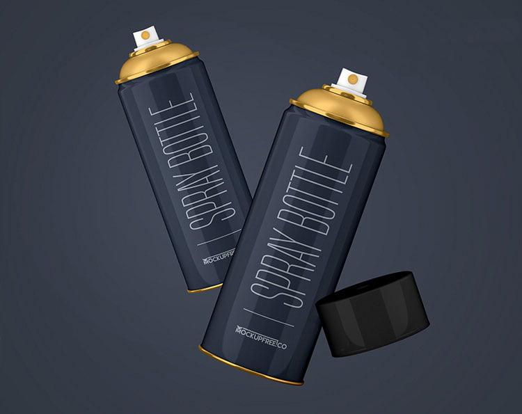 Free Spray Bottle Mockup
