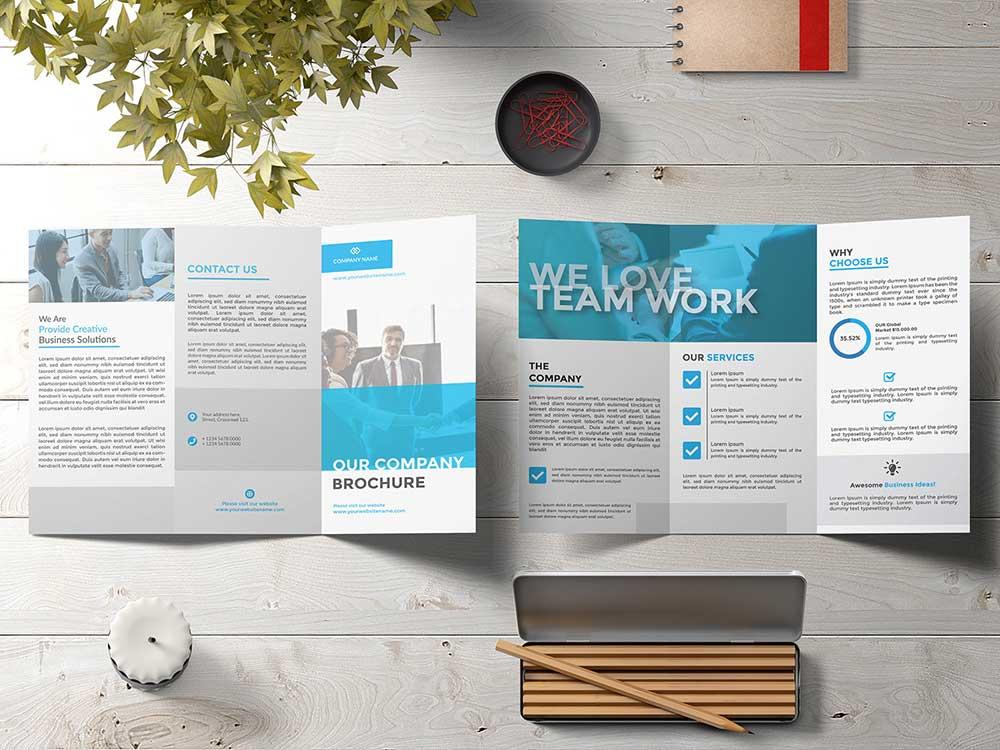 Free Tri-Fold Brochure Mockups | Mockuptree