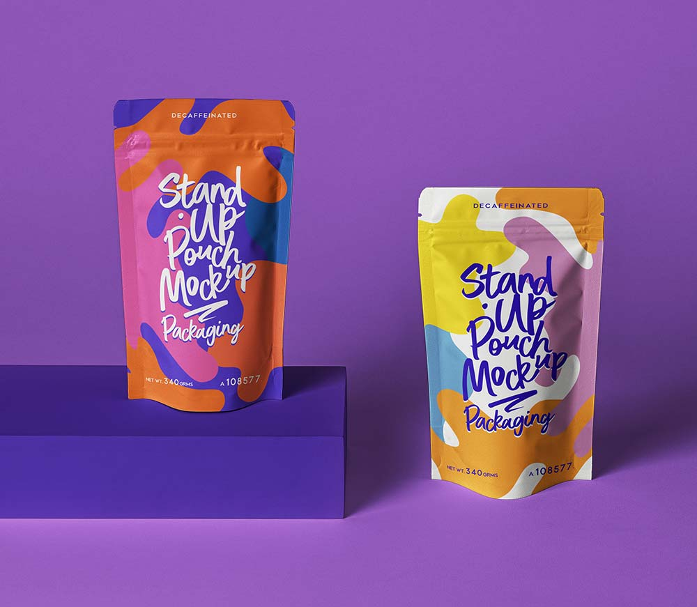 Free Pouch Packaging Mockup